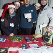 Le nostre volontarie con Pif e il nostro campaigner Pellicce Simone Pavesi