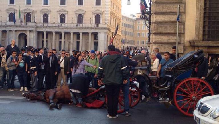 Botticelle: ancora un incidente nel cuore di Roma. Adesso basta!