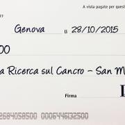 L'assegno LAV per l'Istituto Nazionale per la Ricerca sul Cancro di Genova