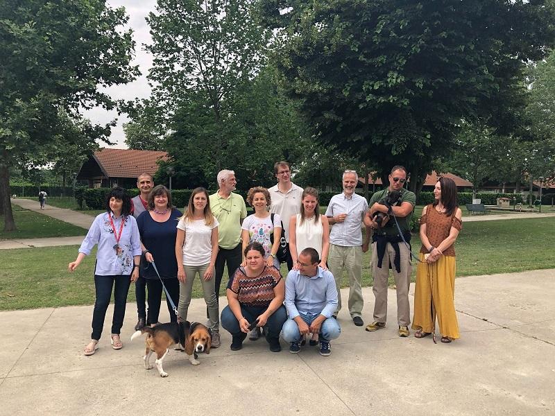 Il nostro gruppo di lavoro al Parco Canile di Milano