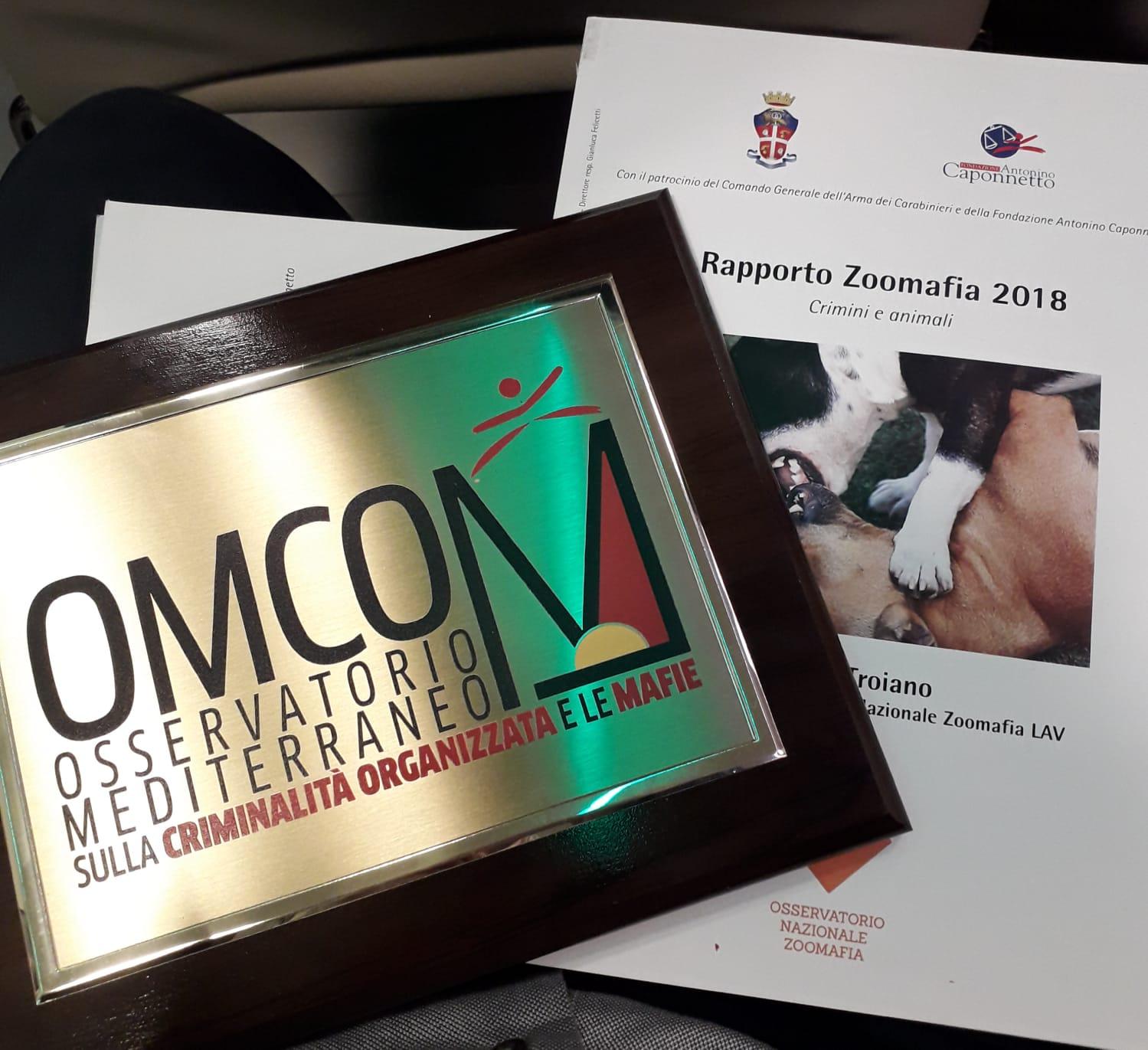 """Antimafia: premio """"Scomodo"""" a Ciro Troiano, responsabile Osservatorio zoomafia LAV"""