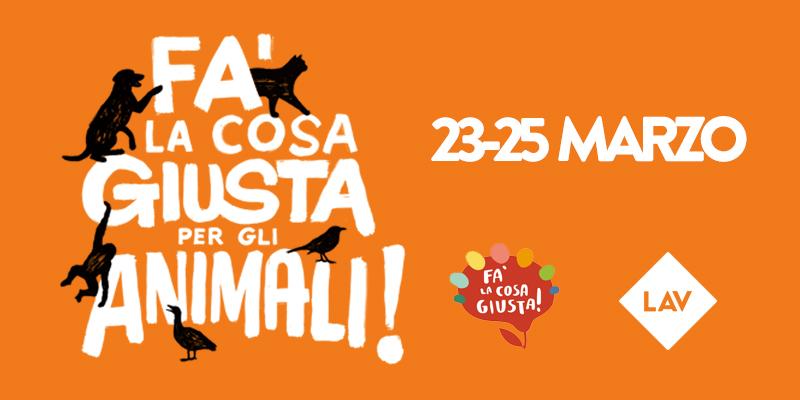 IL SABATO FA' LA COSA GIUSTA...PER GLI ANIMALI!