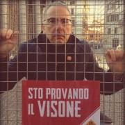 Il nostro presidente Gianluca Felicetti apre la staffetta in gabbia