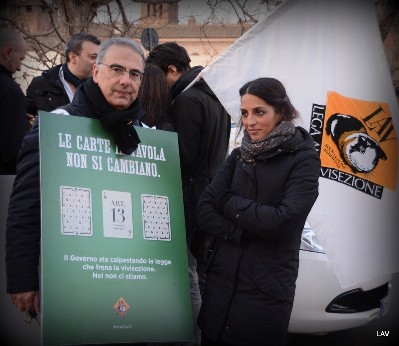Presidio anti-vivisezione al Ministero Salute