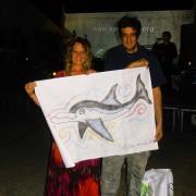 Pescara -  Antonella Agostini (LAV Pescara) con l'Artista Paolo Sax