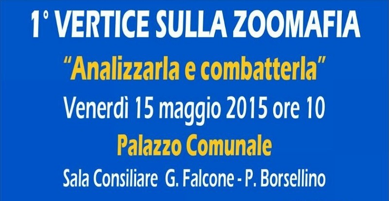 Zoomafia: 1° Vertice Nazionale. 15 maggio, Bagno a Ripoli - Firenze