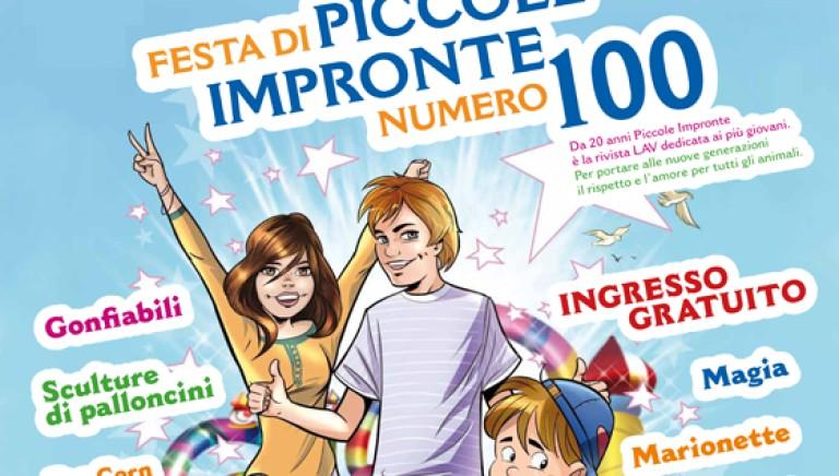 Piccole Impronte arriva al 100° numero. Grande festa il 13 giugno!