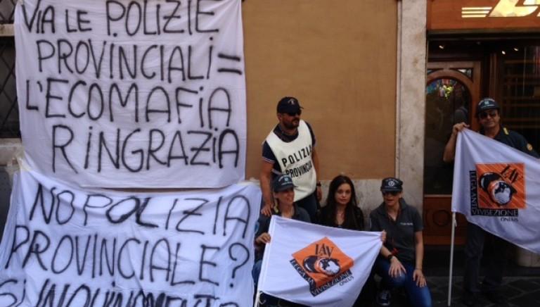 NO allo scioglimento delle Polizie Provinciali