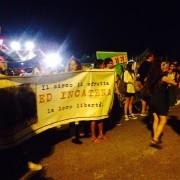 Manifestazione nei pressi del Circo Orfei a Mestre