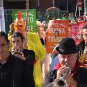 Un momento del Flash Mob LAV del World Vegan Day