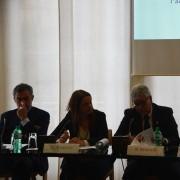 da sinistra: Giorgio De Rita (Segretario generale Censis), Gaia Angelini (resp. LAV Area Esotici), Roberto Bennati (Vicepresidente LAV), Sergio Vistarini (ricercatore Censis)