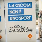 Manifestazione contro la caccia a Torino: appello  a Decathlon (C) LAV
