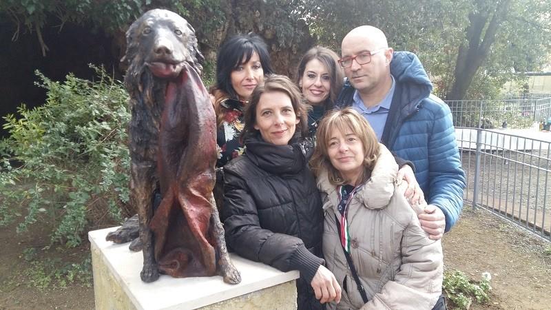 La statua di Snoopy a Livorno