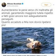Il tweet del Ministro Bonafede