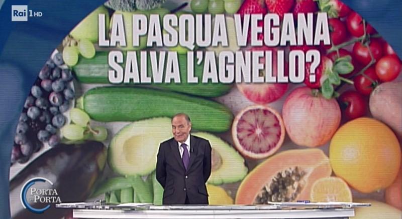 Pasqua vegana a Porta a Porta (RaiUno), ma è vero pluralismo?