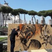 Lo street artist Moby Dick all'opera