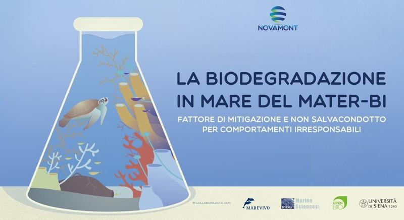 Gli studi scientifici attestano la biodegradabilità marina del Mater-Bi