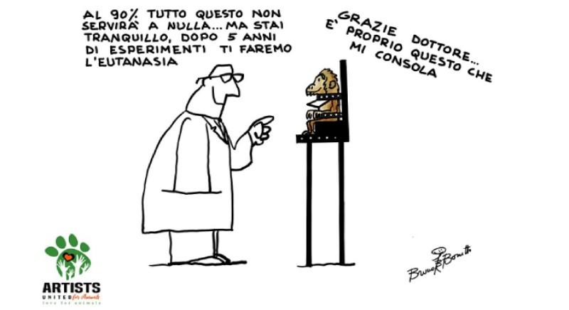 LAV ringrazia Bruno Bozzetto per questa vignetta