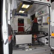L'interno dell'ambulanza