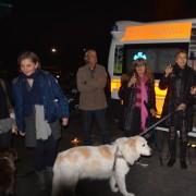 Daniela Poggi inaugura l'ambulanza