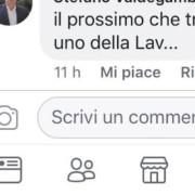 Il post Facebook oggetto della denuncia a Valdegamberi