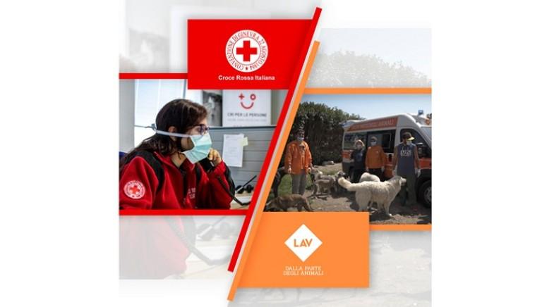 #nonlasciamosolonessuno Croce Rossa Italiana e LAV insieme nella Fase 2
