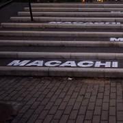 """Le scritte """"Macachi Liberi"""" al Ministero della Salute di Roma Eur"""