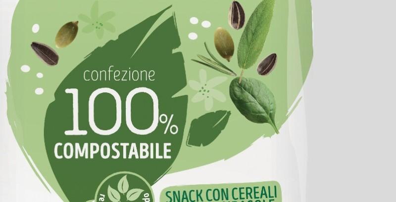 Packaging compostabile frutto della collaborazione tra Novamont e Colussi