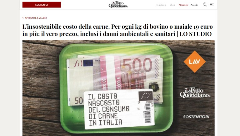 #CARISSIMACARNE, quanto ci costi? La diretta FB sulla pagina del Fatto