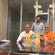 Mauro Collini, presidente del Consorzio turistico Pro Loco val Rendena, Walter Ferrazza, presidente PNAB, e Massimo Vitturi, resp. LAV Area Animali selvatici