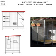 Il progetto della nuova area del Canile di Rieti, con i nuovi box