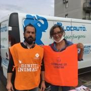 Massimiliano Alfano (LAV Siracusa) con Rita Brancato (Assessora al randagismo del Comune di Lentini)