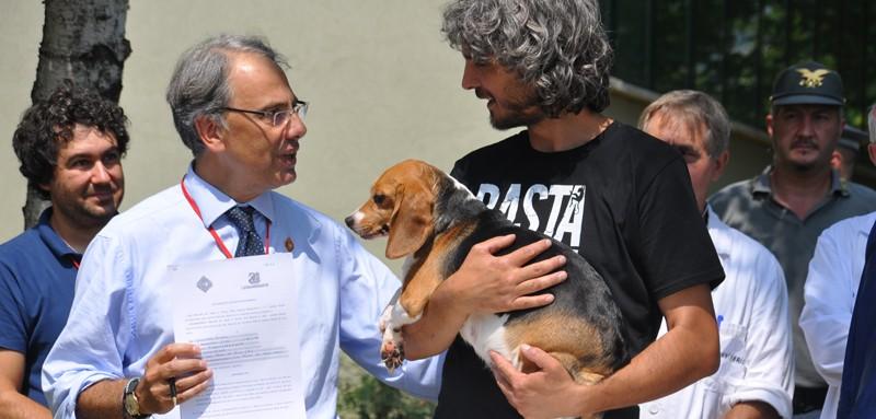 Gianluca Felicetti, Presidente LAV al campo per i beagle di Green Hill