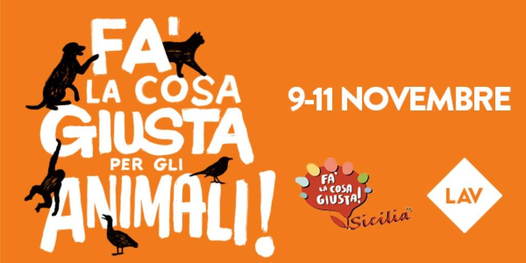 FA' LA COSA GIUSTA...PER GLI ANIMALI IN SICILIA!