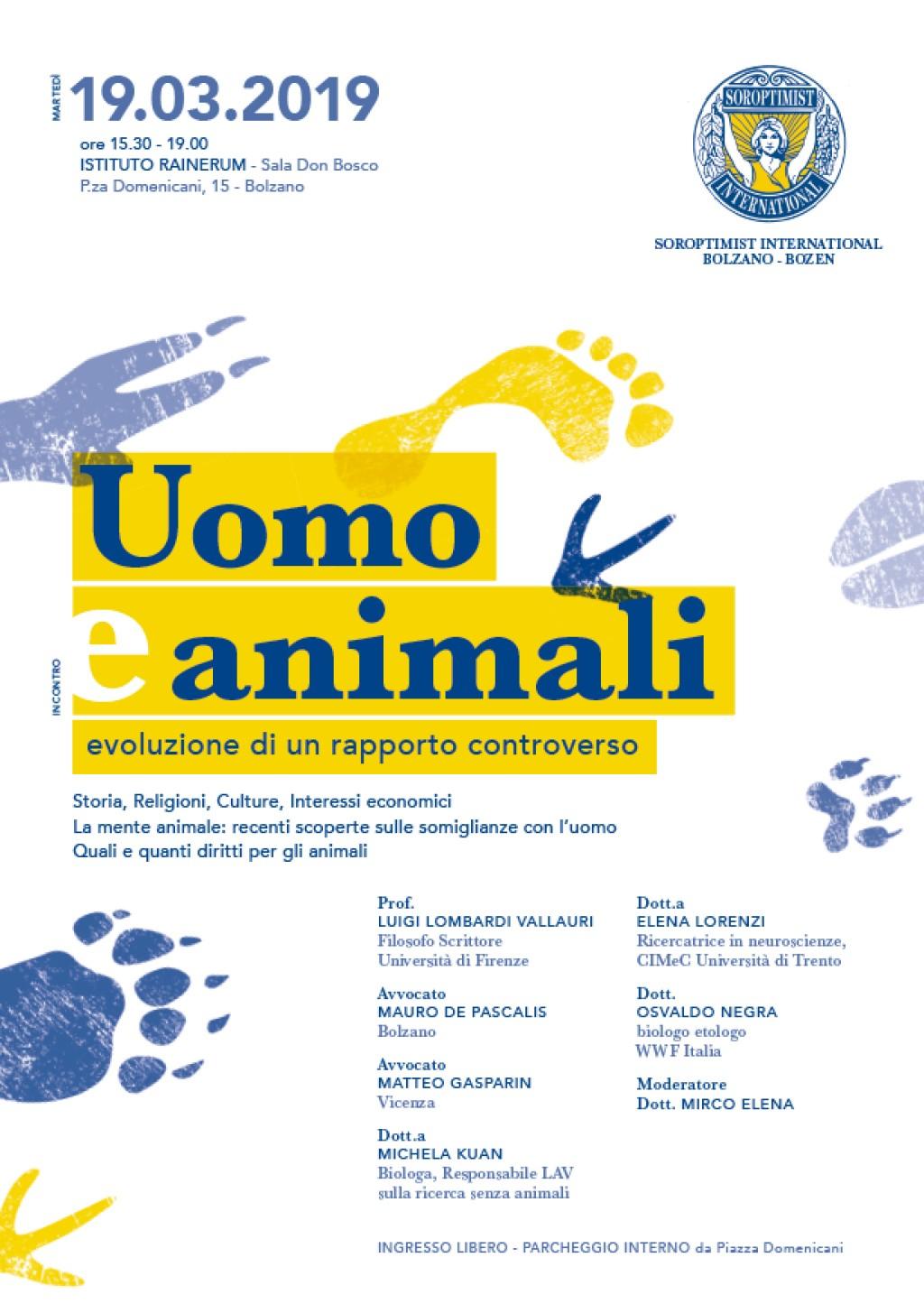 """""""UOMO-ANIMALI"""": IL CONVEGNO A BOLZANO"""