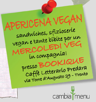 Apericena vegan alla Bookique