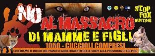 manifestazione a treviso per il ritiro del piano di abbattimento di 1050 volpi nella provincia di Treviso.