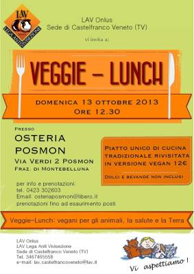 1° Veggie Lunch presso Osteria Posmon a Posmon di Montebelluna (TV)