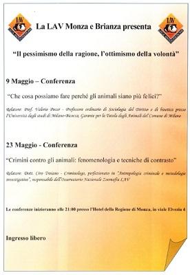 Prossimi appuntamenti: Conferenze del 9 e del 23 maggio