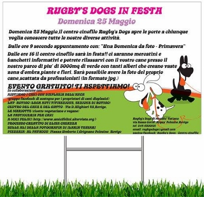 """LA LAV DI ROVIGO SARA' AL """"RUGBY'S DOGS IN FESTA"""""""