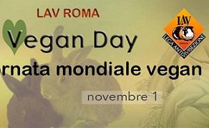 Sabato 1 novembre il World Vegan Day di LAV Roma a Largo Argentina