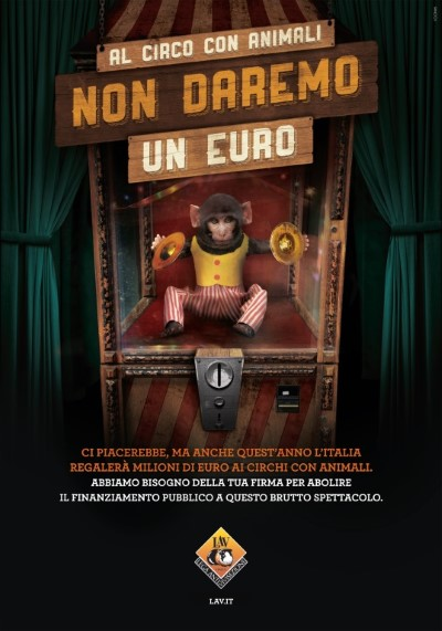 AL CIRCO CON ANIMALI NON DAREMO UN EURO!