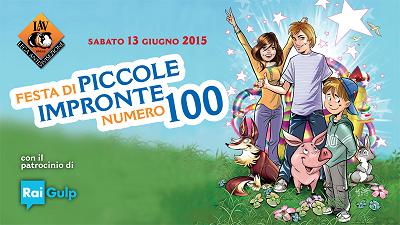 Vi aspettiamo alla festa per il numero 100 di Piccole Impronte sabato 13 giugno dalle 16.30 alle 20.00