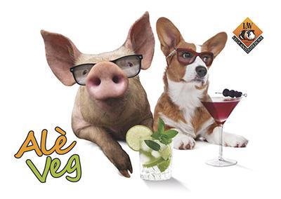 Alè veg: aperitivo vegano ... per cani e porci