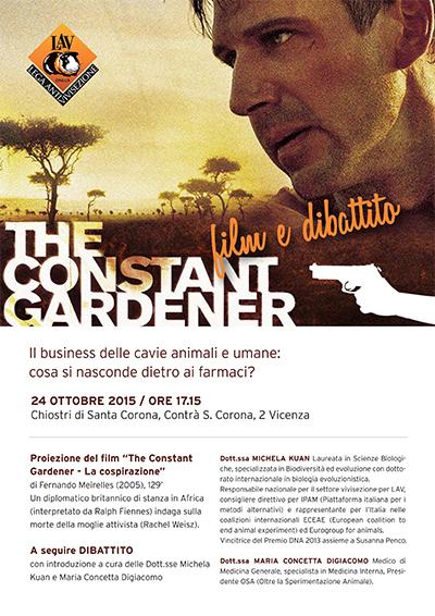 """Proiezione del film """"The constant gardener"""""""