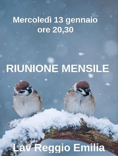 RIUNIONE MENSILE GENNAIO