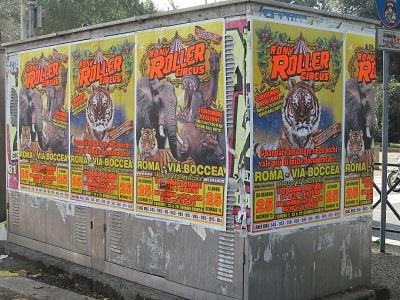 Circo: esposto LAV contro il Rony Roller per affissione abusiva manifesti