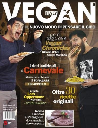 """Presentazione rivista """"Vegan Italy"""" al ristorante Ma Va' giovedì 18 febbraio ore 18.30"""