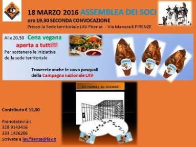 18 MARZO 2016 ASSEMBLEA DEI SOCI E RINFRESCO