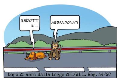 """Incontro """"Sedotti e ABBANDONATI"""" - riflessioni dopo 25 anni dalla legge dello Stato 281/91 legge reg. 34/97a - 21 marzo 2016 a Grottaferrata"""